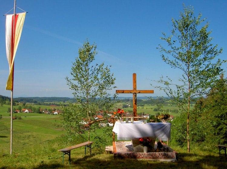Altar für die Bergmesse beim Melterfest
