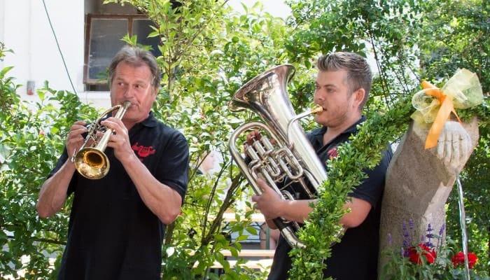Sepp und Detlef auf dem Brunnenfest 2015