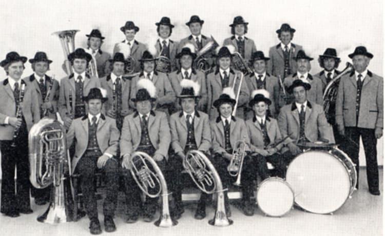 1971 erste Teilnahme am Bezirksmusikfest