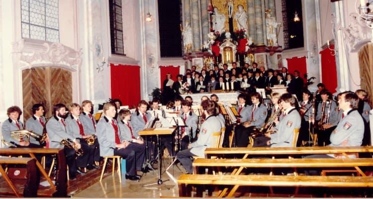 1983 Kirchenkonzert unter der Leitung von Josef Lohbrunner