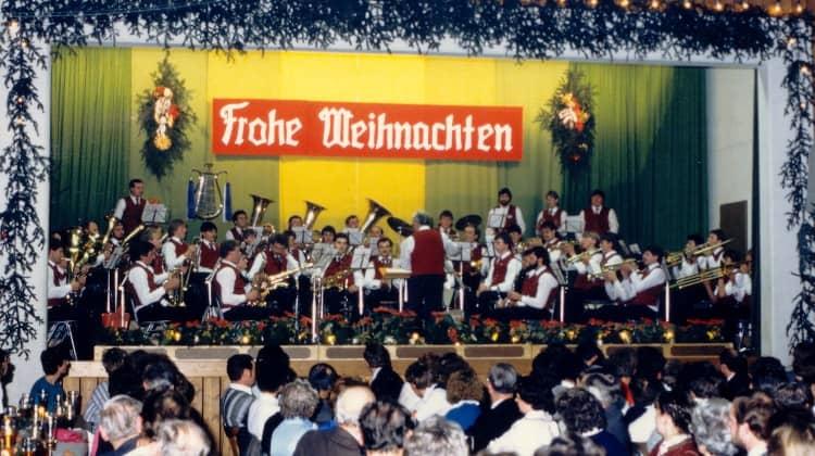 Weihnachtskonzert 1985 unter der Leitung von Josef Lohbrunner