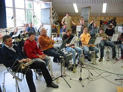 """Aufnahme der CD """"Musik im Blut"""" 2007"""