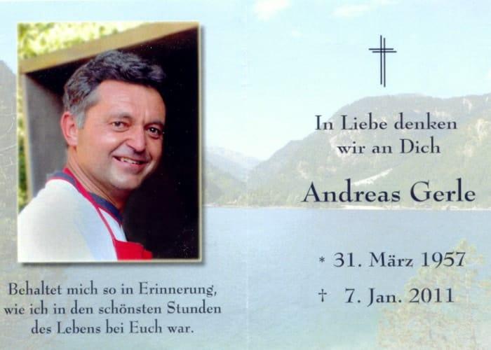 im Gedenken an Andreas Gerle