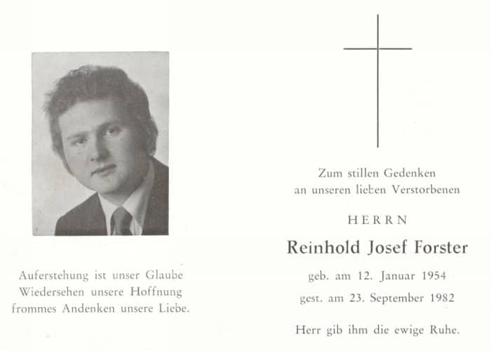Im Gedenken an Reinhold Josef Forster