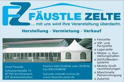 Fäustle Zelte