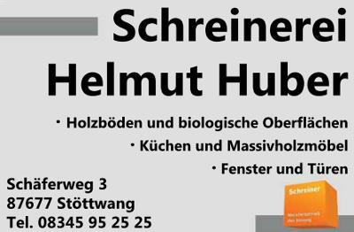Schreinerei Helmut Huber